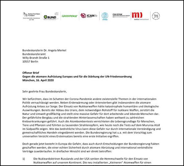 NFFF Offener Brief Merkel 04 2020 Ta